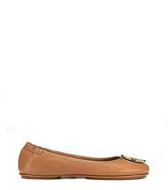 Black/Gold or Tan/Gold- Size 6.5   Tory Burch Minnie Flats