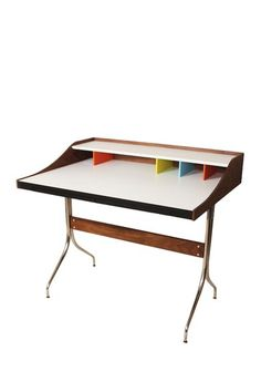 The Swag Walnut Desk by Control Brand on @HauteLook The Swag Desk is made of solid wood and features sleek stainless steel legs for a chic, modern look.