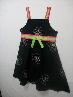 BLUEBERRI BOULEVARD KID GIRL SIZE 7 DRESS BLACK  100% COTTON SLEEVELESS SUMMER E #BLUEBERRIBOULEVARD #Dress #DressyEveryday