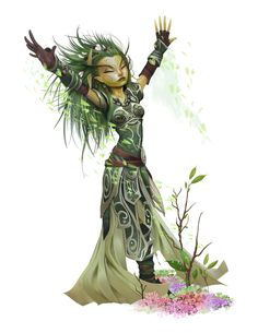 After battle first aid to the surrounding nature? Fantasy Races, High Fantasy, Fantasy Rpg, Character Portraits, Character Drawing, Character Design, Fantasy Art Women, Fantasy Girl, Dnd Characters