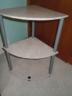 Craftdrawer Crafts: How to Makeover an End or Corner Table Using Contact Paper