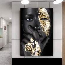 Woman Painting, Figure Painting, Black And Gold Living Room, Black And Gold Bathroom, Black Bathroom Decor, Black Rooms, Art Mural, Wall Art, Wall Decor