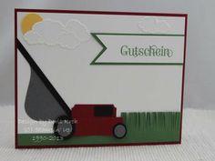 Ein Gutschein mit Rasenmäher   Doris stempelt in HandewittDoris stempelt in Handewitt