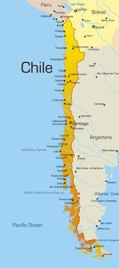 Illustration about Abstract vector color map of Chile country. Illustration of design, argentina, political - 6289775 San Santiago, South America Map, South American Countries, Cruise Tips, American Country, Places To Travel, Travel Destinations, Travel Photos, Peru