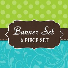 Oh so Cute Etsy Shop 6 Piece banner design by lilpinkzebradesigns