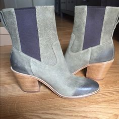 """Cole Haan Graham boot, Fatigue suede, 6.5, NEW Fatigue green. Size 6.5. Suede upper, leather lining. Waterproof. Heel height: 2.5"""", Shaft: 7.5"""" Cole Haan Shoes Ankle Boots & Booties"""