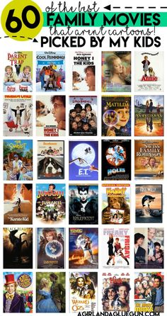 Backyard movie with 60 of our favorite family movies! - A girl and a glue gun Backyard movie with 60 of our favorite family movies! - A girl and a glue gun Classic Comedy Movies, Comedy Movies List, Romantic Comedy Movies, Classic Comedies, Classic Movies For Kids, Good Movies For Kids, Cartoon Movie List, Best Cartoon Movies, Classic Disney Movies