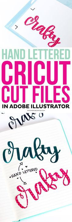 8f71955ca2ee0 Learn how to Create Hand Lettered Cricut Cut Files in Adobe Illustrator!  This is a