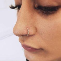 16g Thickness 7mm BarLength Steel Nose Piercing Septum Clicker Carve Design-14ct