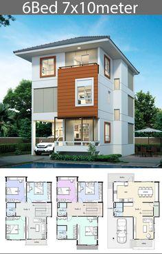 5 ideas Home design plan - House Plan Map, 3d Home Design, Modern Home Interior Design, New Home Designs, Modern House Design, Kitchen Interior, Modern House Plans, Small House Plans, House Floor Plans, Building Design