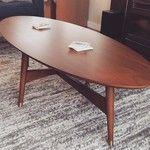 Reeve Mid-Century Oval Coffee Table | west elm