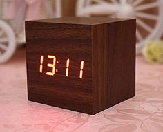A mini cube clock that will keep you right on time. | 25 Beautiful Wood Products You'll Want To Buy Immediately