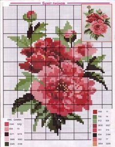 Gallery.ru / Фото #15 - ОДНА СХЕМКА - Nojabrina Cross Stitch Rose, Cross Stitch Borders, Cross Stitch Flowers, Cross Stitch Designs, Cross Stitch Charts, Cross Stitching, Cross Stitch Embroidery, Wall Photos, Crochet Flowers