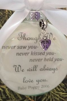 Miscarriage Memorial Ornament Though We by ShopCreativeCanvas