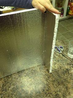 Easy cornice tutorial using foam board