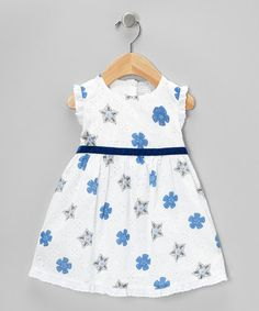 Take a look at this White & Navy Dress - Infant & Toddler by Fantaisie Kids on #zulily today!