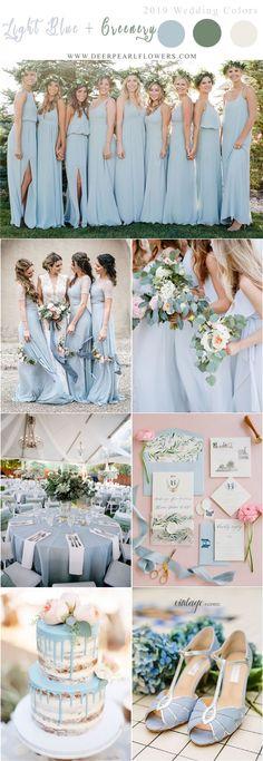 light blue and greenery wedding color ideas - Wedding Color Pelettes - Wedding Themes, Wedding Designs, Our Wedding, Dream Wedding, Wedding Decorations, Fall Wedding, Wedding Blue, Cornflower Wedding, Elegant Wedding