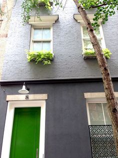 West Village via Goop  Love the grey and green