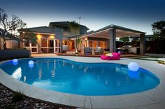 Homes Outdoor Living Dream Homes Glowing Pools Dream Backyards Ron Tan