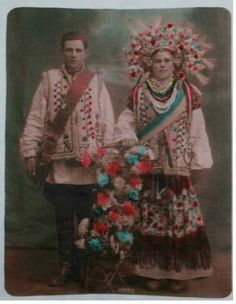 Весільне фото, моя тітка Бабущак Софія, 1932 рік, с.Корнич, Коломийського р-ну, Івано-Франківської обл..jpg (401×517)