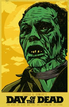 Day of the Dead - George A. Romero by MattPepplerArt Horror Movie Posters, Movie Poster Art, Horror Films, Zombie Movies, Scary Movies, Comedy Movies, Arte Horror, Horror Art, Zombies