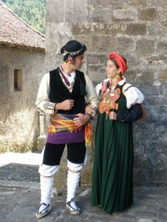 "A very distinct traditional costume from Spain known as ""Basqeusa."""