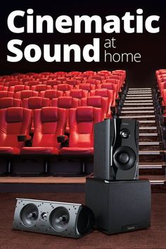 To enjoy the surround sound experience of a movie theater in your home, you'll need a home theater receiver and at least six speakers (including a powered subwoofer). Find some rules of thumb on how to assemble a well-matched surround speaker system. Best Home Theater Speakers, Home Theater Sound System, Home Theater Receiver, Home Theater Projectors, Movie Theater Rooms, Home Cinema Room, Home Theater Decor, Home Theater Seating, Best Surround Sound Speakers