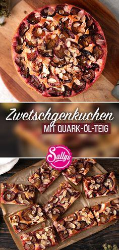 Dieser Zwetschgenkuchen ist super saftig, locker und fruchtig 😍 Der All-in Quark-Öl-Teig ist super schnell zusammengerührt! Mit Zwetschgen belegt und mit Streusel bestreut, ist der Kuchen innerhalb von nur 10 Minuten im Ofen. Nach dem Backen kann er dann zu geschlagener Sahne oder auch zu einer Kugel Eis serviert werden. Ein schneller Kuchen- perfekt zum Sonntags Kaffee 😍  Viel Spaß beim Nachmachen 😘   #sallyswelt #zwetschgenkuchen #zwetschgen #kuchen #sallys #quarkölteig #quark #ölteig Breakfast, Recipes, Food, Scoop Of Ice Cream, Quick Cake, Sprinkles, Delicious Food, Kaffee, World