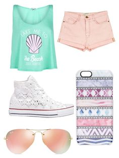 """""""Where are you summer?"""" by nolanlover13 ❤ liked on Polyvore featuring Wildfox, Current/Elliott, Converse, Ray-Ban and Casetify"""