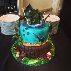 Bass Fishing Birthday Cake By Cakes Anna In Alpharetta Ga Cakesbyanna21