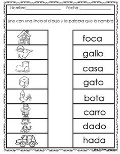 This is a set of 30 reproducible pages for beginning Spanish readers to practice reading and writing words with open syllables. It includes two and three syllable words. Spanish Lessons For Kids, Preschool Spanish, Elementary Spanish, Teaching Spanish, French Lessons, Teaching French, Bilingual Classroom, Bilingual Education, First Grade Writing Prompts
