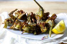 crispy frizzled artichokes
