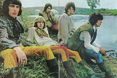 The Stones at the photo shoot for the Beggars Banquet album at Swarkestone Hall Pavilion, 1967
