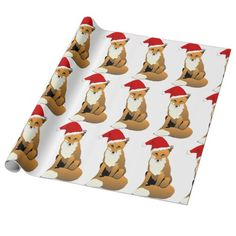 Santa Fox Wrapping Paper