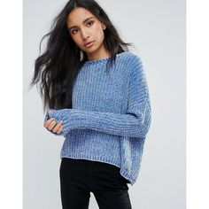 Pepe Jeans Chana Knit Jumper ($72) ❤ liked on Polyvore featuring tops, sweaters, navy, patterned sweater, ruffled sweaters, ruffle top, knit sweater and tall sweaters