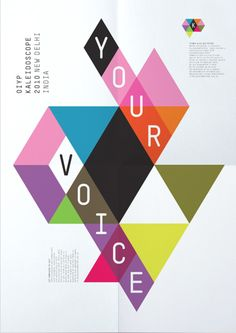 Beautiful poster design representing a kaleidoscope without being too visually repetitive.