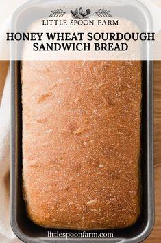 Sourdough Sandwich Bread Recipe, Recipe Using Sourdough Starter, Sandwich Bread Recipes, Sourdough Recipes, Bread Machine Recipes, Soft Sourdough Bread, Whole Wheat Sourdough, Baking Recipes, Vegan Recipes