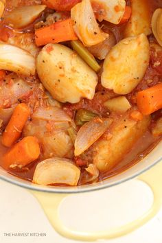 This Chicken Continental is your basic chicken stew with one ingredient that gives it it's delicious unique flavor. @theharvestkitchen.com