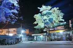 Surreal Collages Of Cambodian Trees Mixed With Traditional Art By Clement Briend