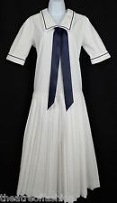 VINTAGE LAURA ASHLEY SAILOR DRESS GATSBY 20s FLAPPER 30s 40s 50s WEDDING BEAUTY