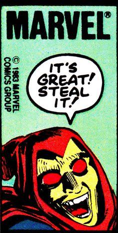 "Hobgoblin corner boxby John Romita Jr., Klaus Janson & Christie Scheele - ""It's great! Steal it!"" #Marvel"