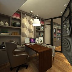 Trendy office furniture modern built ins Ideas Office Cabin Design, Small Office Design, Home Office Setup, Office Interior Design, Office Interiors, Home Interior, Office Designs, Office Style, Design Ppt