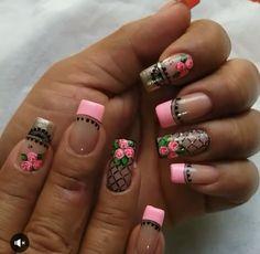 Fingernails Painted, Gel Nails, Paris Nails, Nails 2017, Floral Nail Art, Marble Nail Art, Dream Nails, Gorgeous Nails, Manicure And Pedicure