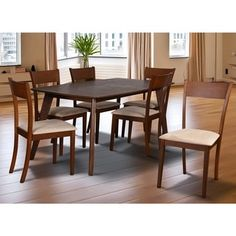 Olivia Mid-Century 7-piece Brown Extendable Dining Set - Free Shipping Today - Overstock.com - 18050729 - Mobile