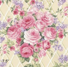 VICTORIAN ROSES~LG FUSSY CUT~FOCAL POINT QUILT BLOCKS~FLORAL FABRIC~SF#1