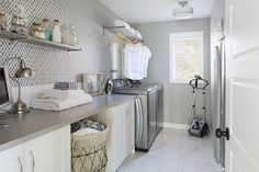 to help you design the best utility room. From clever storage options to ways of saving money, our guide offers laundry room design ideas. Plus how to make the most of space in a small utility room. Doing Laundry, Small Laundry, Laundry Hacks, Best Washer Dryer, Basement Laundry, Laundry Rooms, Laundry Shelves, Laundry Area, Laundry Closet