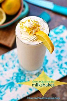 Lemonade Coconut Milkshake
