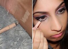 Lazy Girl Beauty Hacks To Try Right Now Use a white or light eyeliner to really make your eyes pop (or hide how tired/hungover you are).Use a white or light eyeliner to really make your eyes pop (or hide how tired/hungover you are). Beauty Secrets, Diy Beauty, Beauty Makeup, Eye Makeup, Hair Makeup, Makeup Mascara, Beauty Advice, Makeup Videos, Makeup Tips