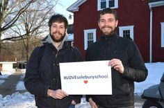 """History teacher & Debate Team adviser Jared Levy and Science teacher & Chess Club adviser Jack Murphy are old college friends and now colleagues and they #LOVEsoleburyschool.  """"I love #SoleburySchool because of our awesome students,"""" said Jack.  """"I love #SoleburySchool because it is a supportive community,"""" said Jared. Share #LOVEsoleburyschool with your friends. Make a donation by clicking on the following link. http://www.solebury.org/giving/onlinegiving_qc.aspx"""