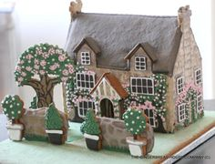 Spring and Easter English gingerbread cottage by Sayitwithginger